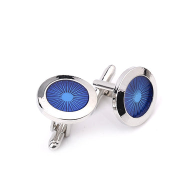 Blue Wheel Classic French Fashion Cufflinks with Free Gift Packaging.