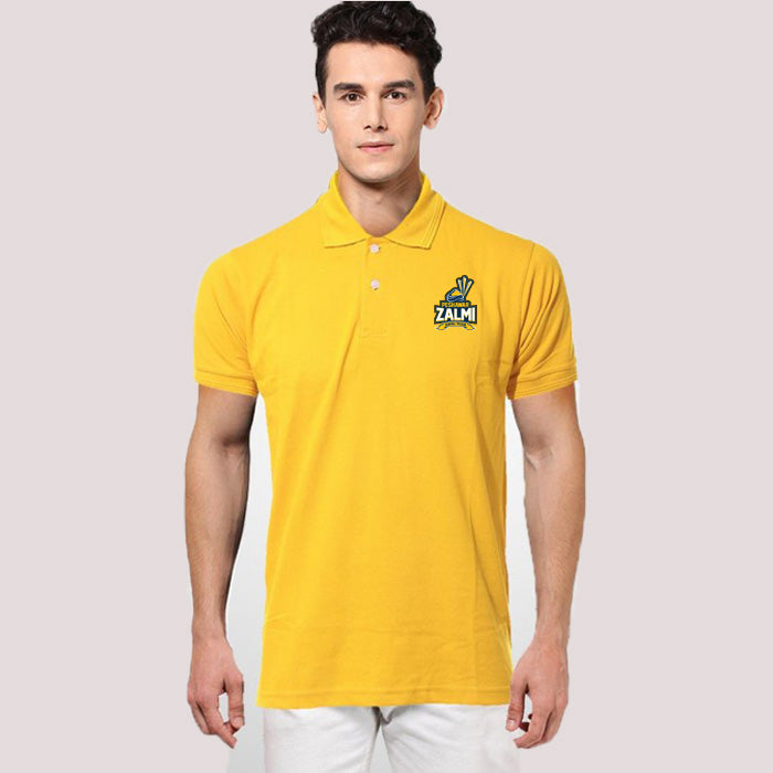 Peshawar Zalmi Yellow Polo T-Shirt - RHIZMALL.PK Online Shopping Store.