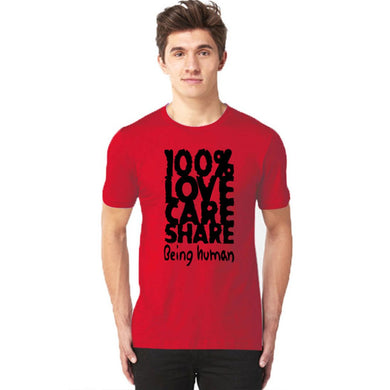 100% Love Half Sleeves T-Shirt - RHIZMALL.PK Online Shopping Store.