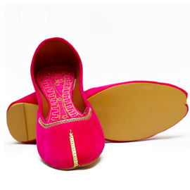 Pink Ditzyi Printed Khussa - RHIZMALL.PK Online Shopping Store.