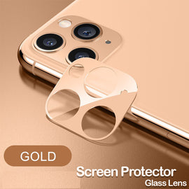 Camera Lens Full Cover iPhone 11 Pro MAX Camera Protective Metal Ring Tempered Glass For iPhone,Lens Protector Case - RHIZMALL.PK Online Shopping Store.