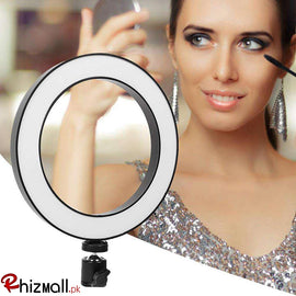 20cm New Selfie Ring Light with Tripod Stand  for Live Stream Circle Lighting Ringlights - RHIZMALL.PK Online Shopping Store.