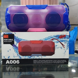 SPEAKER BLUETOOTH 6DIFF COLOUR LIGHT A006 - RHIZMALL.PK Online Shopping Store.