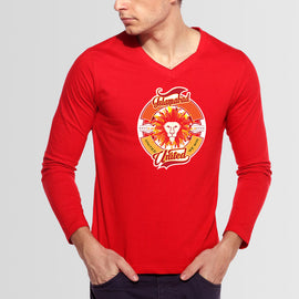 Islamabad United  PSL V-Neck Red Full Sleeves T-Shirt - RHIZMALL.PK Online Shopping Store.