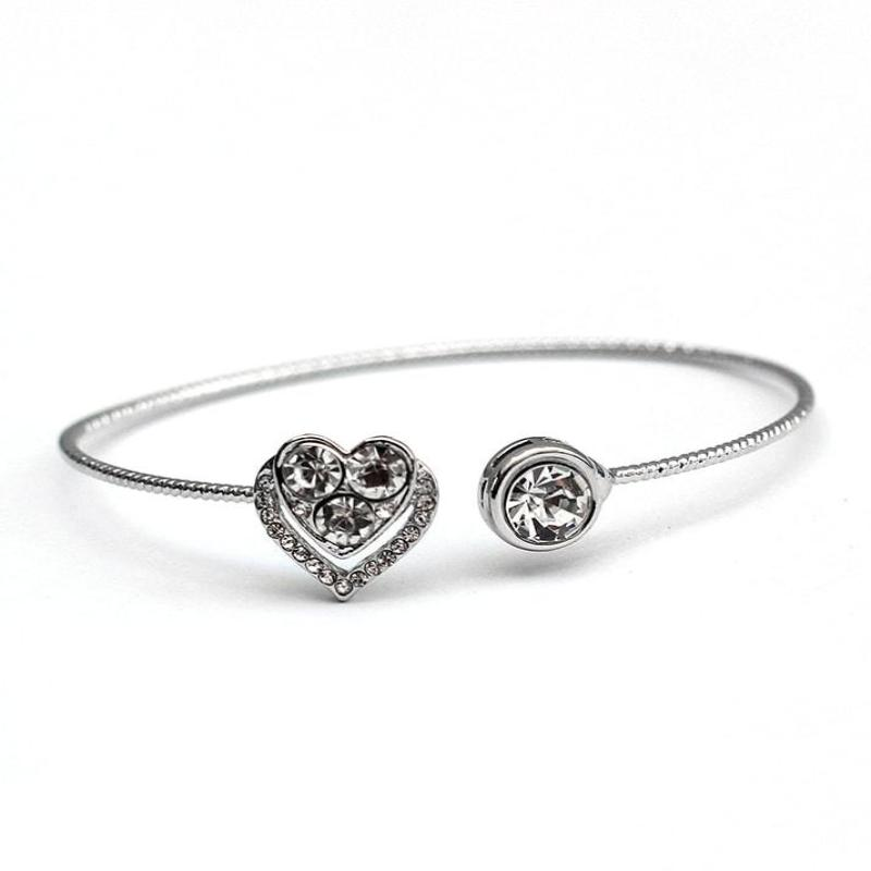 Silver Heart Diamond Bangle - RHIZMALL.PK Online Shopping Store.