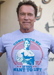 "Arnold Schwarzenegger's ""Come With Me If You Want To Lift"" Tank Top - RHIZMALL.PK Online Shopping Store."