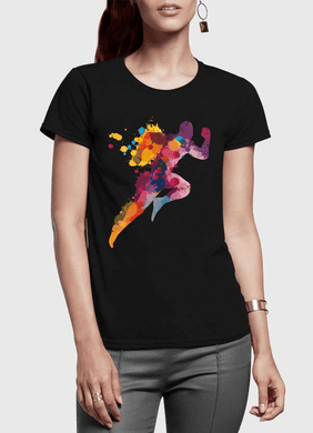 Colors Are Coming Half Sleeves Women T-shirt - RHIZMALL.PK Online Shopping Store.