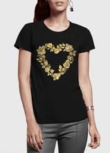 Flowers Heart Half Sleeves Women T-shirt - RHIZMALL.PK Online Shopping Store.