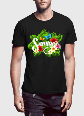 Summer Time Half Sleeves T-Shirt - RHIZMALL.PK Online Shopping Store.