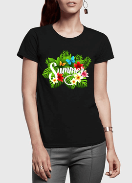 Summer Time Half Sleeves Women T-shirt - RHIZMALL.PK Online Shopping Store.