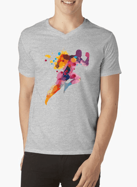 Colors Are Coming V-Neck T-shirt - RHIZMALL.PK Online Shopping Store.