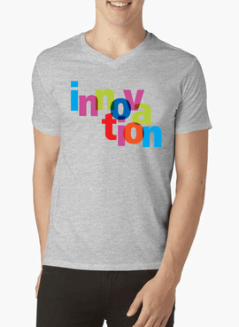 Innovation V-Neck T-shirt - RHIZMALL.PK Online Shopping Store.