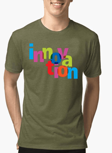 Innovation Half Sleeves Melange T-shirt - RHIZMALL.PK Online Shopping Store.
