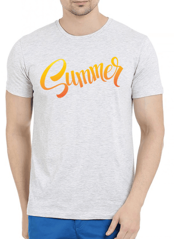 Summer Half Sleeves Melange T-Shirt - RHIZMALL.PK Online Shopping Store.