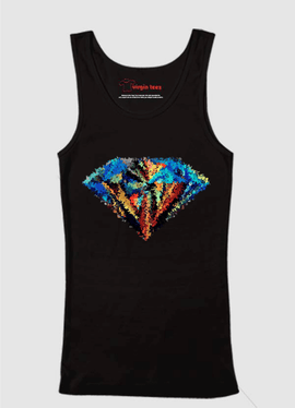Abstract Super Logo Tank Top - RHIZMALL.PK Online Shopping Store.