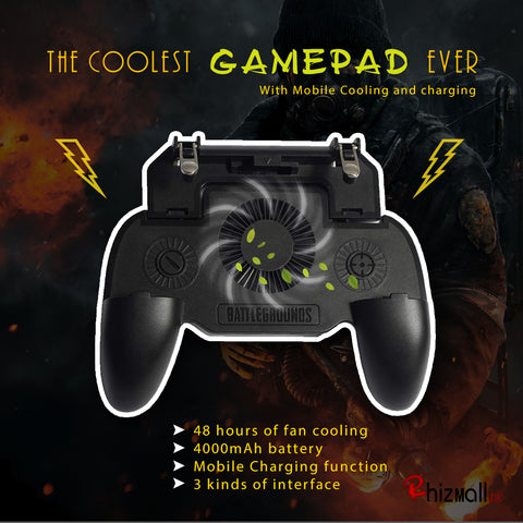 PUBG mobile 4 in 1 Cooling Phone Holder Gamepad - RHIZMALL.PK Online Shopping Store.