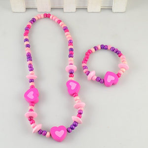 Liliana Purple Heart Necklace and Bracelet Beads