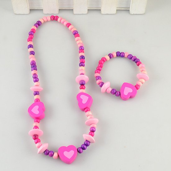 Liliana Purple Heart Necklace and Bracelet Beads - RHIZMALL.PK Online Shopping Store.