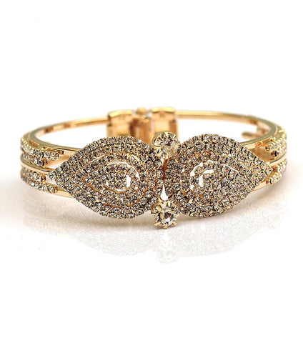 Golden Diamond Zircon Crystal Bangle - RHIZMALL.PK Online Shopping Store.