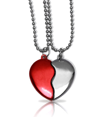 Magnetic Broken Heart Necklace - RHIZMALL.PK Online Shopping Store.