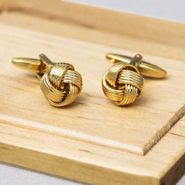 Gold Knot Luxury Cufflink - RHIZMALL.PK Online Shopping Store.