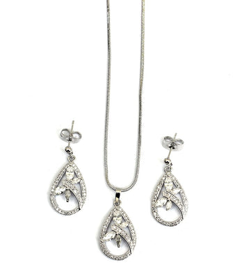 Sterling Silver Dragonfly Jewellery Set - RHIZMALL.PK Online Shopping Store.