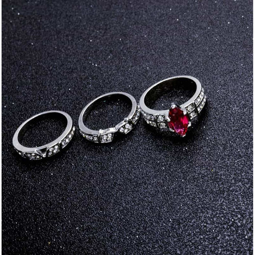Sterling Silver Diamond Cut Zircon Crystal Rings - RHIZMALL.PK Online Shopping Store.
