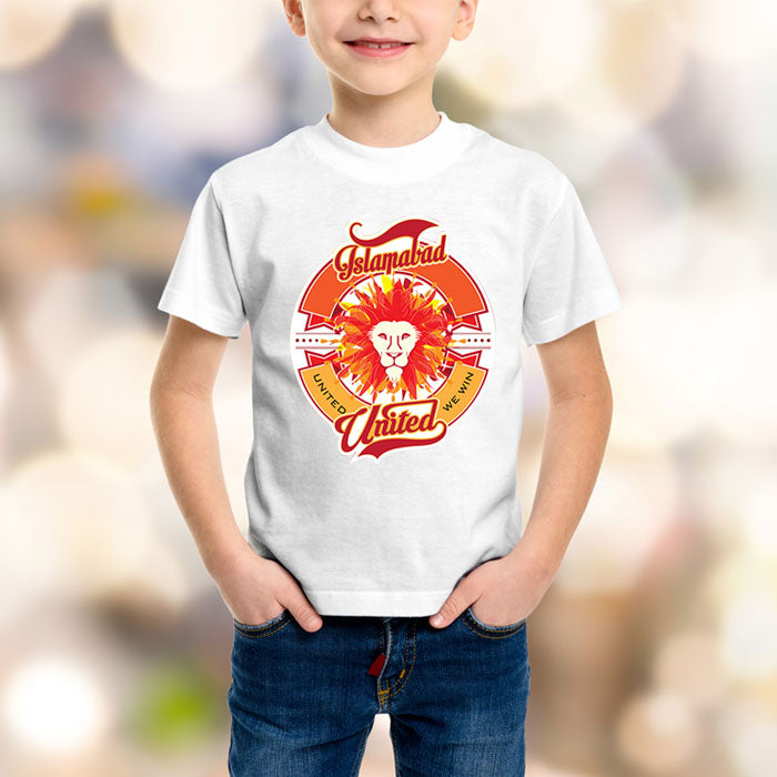 Islamabad United Kids White T-Shirt - RHIZMALL.PK Online Shopping Store.