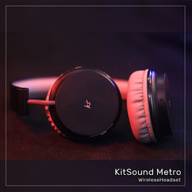 KitSound Metro Wireless On-Ear Bluetooth Headphone - RHIZMALL.PK Online Shopping Store.