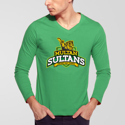 Multan Sultans PSL V-Neck Full Sleeves T-Shirt - RHIZMALL.PK Online Shopping Store.