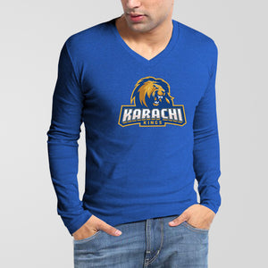 KARACHI KING PSL V-Neck Full Sleeves T-Shirt - RHIZMALL.PK Online Shopping Store.
