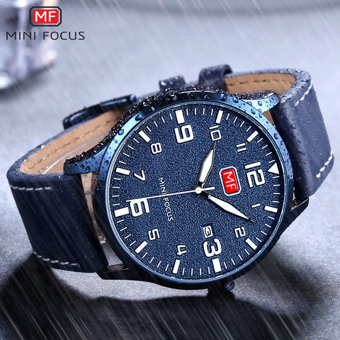 MINIFOCUS Men's Slim Quartz Military Watch
