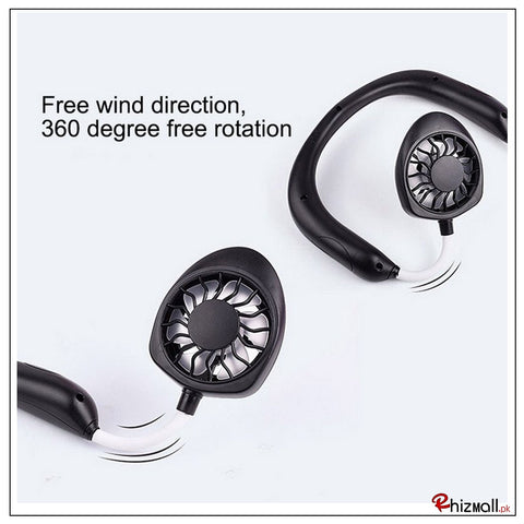 USB Chargeable NeckBand Fan Mini Hand Free
