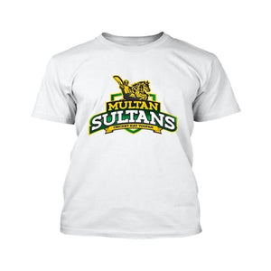 Multan Sultan PSL White T-Shirt - RHIZMALL.PK Online Shopping Store.