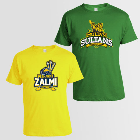 PSL Team T-Shirt Bundle: Multan Sultan + Peshawar Zalmi - RHIZMALL.PK Online Shopping Store.