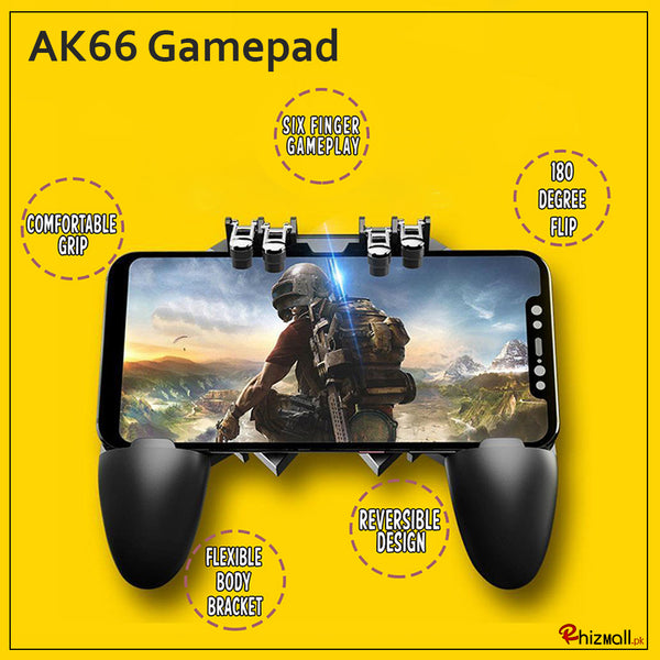 AK66 Six Finger All-in-One Mobile Game Controller Fire Key Button for PUBG