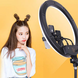 45cm Ring Light With 3 Mobile Phone Holders
