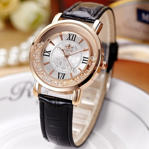Winner New Fashion Women Leather Quartz Wristwatch - RHIZMALL.PK Online Shopping Store.