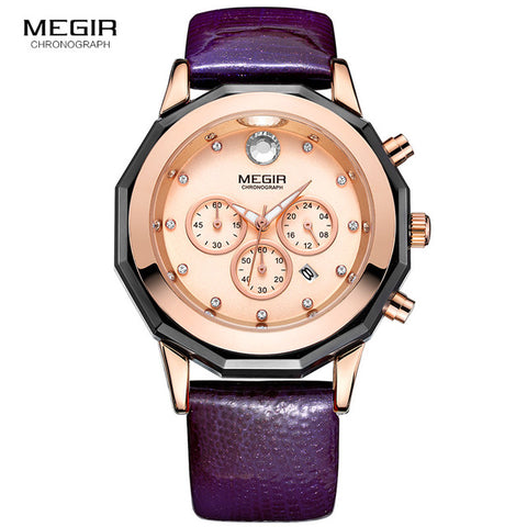 Megir Women's 24-hour Chronograph Wristwatch - RHIZMALL.PK Online Shopping Store.