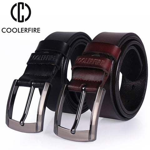 Genuine Leather Cowskin Strap Male Belt for man