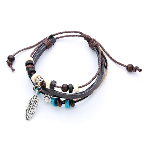 Beads & Rope Bracelet For Men and Women - RHIZMALL.PK Online Shopping Store.