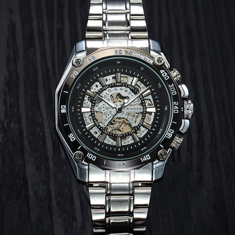 Mechanical Skeleton Self-winding Automatic Watch - RHIZMALL.PK Online Shopping Store.