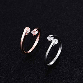Double White Crystal Ring - RHIZMALL.PK Online Shopping Store.