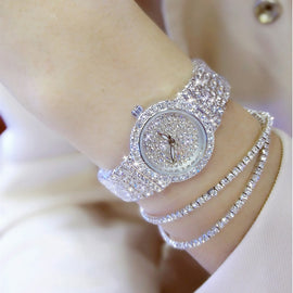 Diamond Famous Brand Elegant Dress Quartz Watch - RHIZMALL.PK Online Shopping Store.