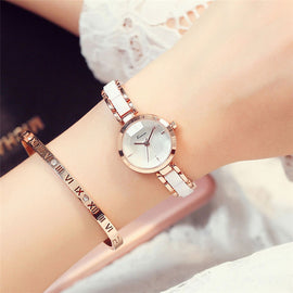 KIMIO NEW Brand Imitation Ceramic Gold Watches Women - RHIZMALL.PK Online Shopping Store.