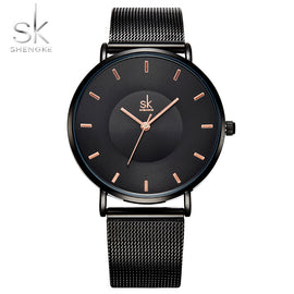 Shengke Fashion Black Women Watches - RHIZMALL.PK Online Shopping Store.