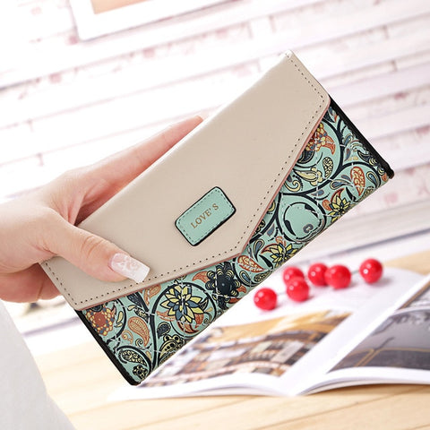 2017 Wallet Leisure Purse Colorful Style 3 Fold Flowers - RHIZMALL.PK Online Shopping Store.