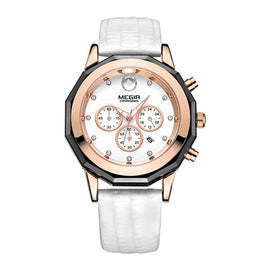 MEGIR Chronograph Wrist Quartz Girl Watch - RHIZMALL.PK Online Shopping Store.