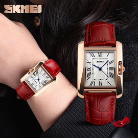 SKMEI Brand Elegant Retro Fashion Ladies Watch - RHIZMALL.PK Online Shopping Store.