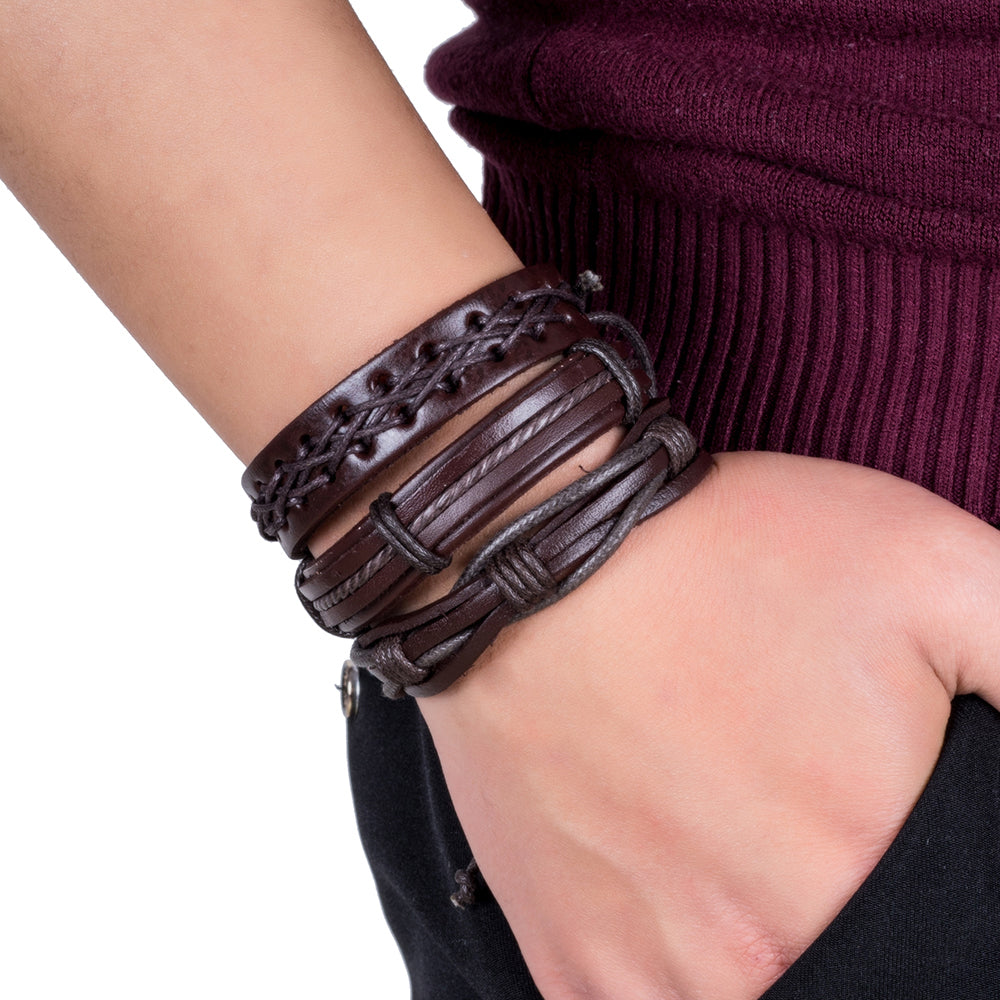 Punk Bible Leather Bracelet & Bangle - RHIZMALL.PK Online Shopping Store.